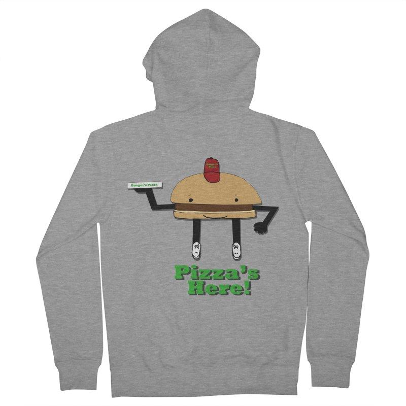 Burger Pizza Men's Zip-Up Hoody by cmschulz's Artist Shop