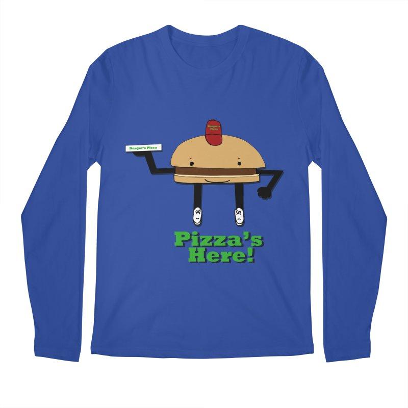Burger Pizza Men's Longsleeve T-Shirt by cmschulz's Artist Shop