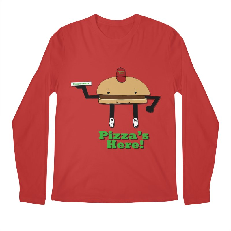 Burger Pizza Men's Regular Longsleeve T-Shirt by cmschulz's Artist Shop