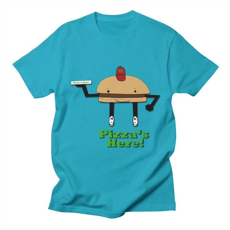 Burger Pizza Men's T-Shirt by cmschulz's Artist Shop