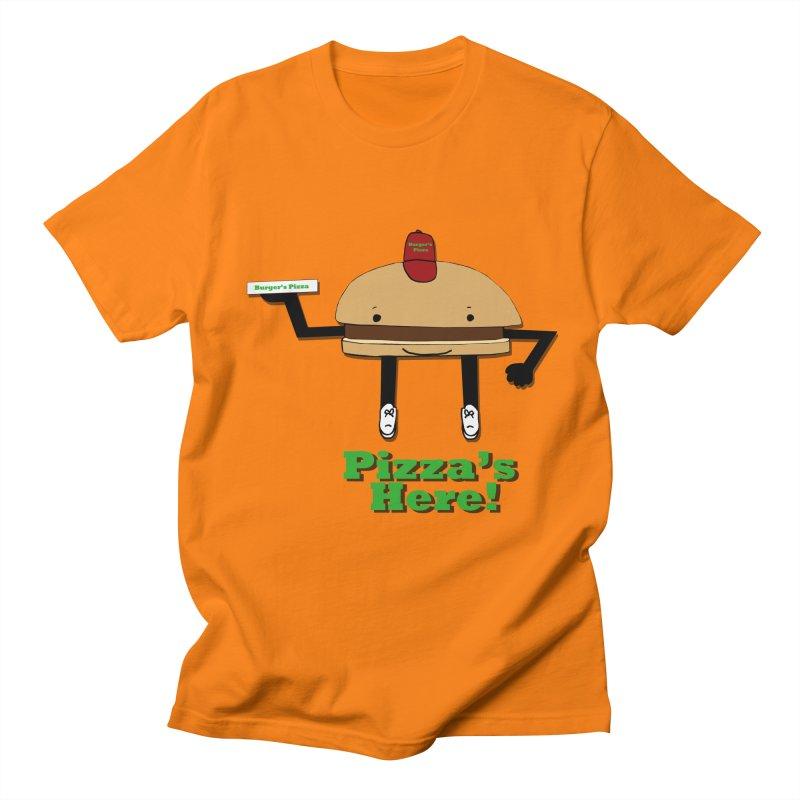 Burger Pizza Men's Regular T-Shirt by cmschulz's Artist Shop