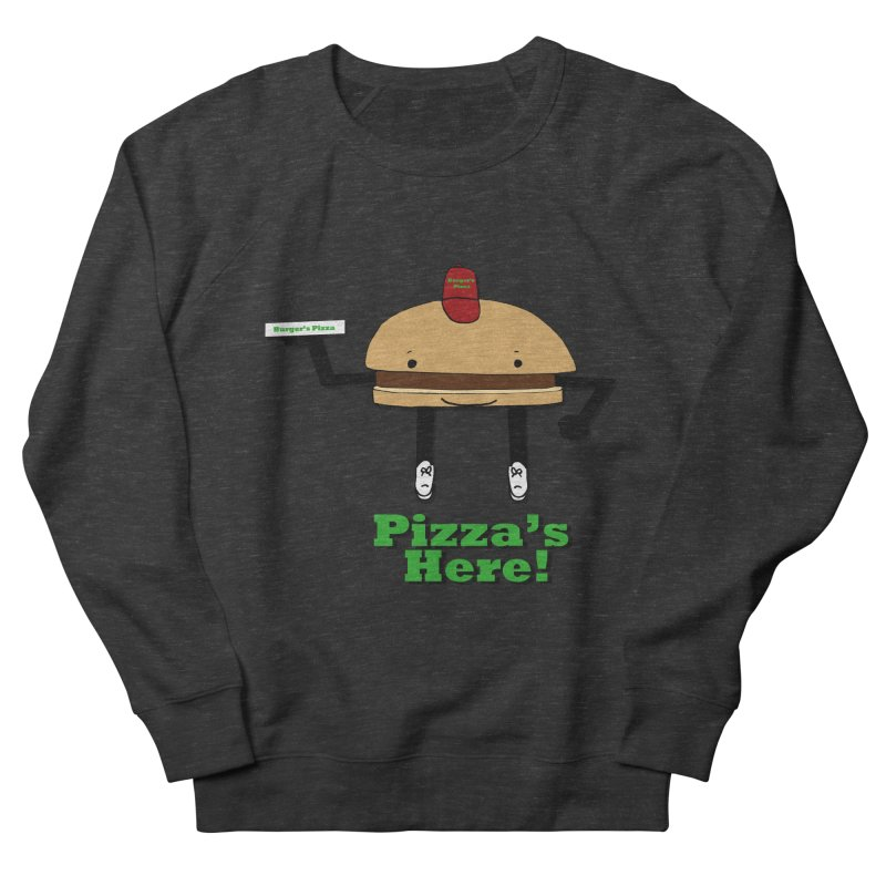 Burger Pizza Women's Sweatshirt by cmschulz's Artist Shop