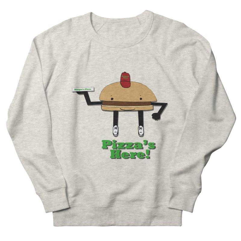 Burger Pizza Women's French Terry Sweatshirt by cmschulz's Artist Shop