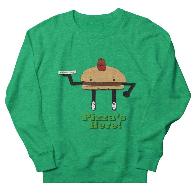 Burger Pizza Men's French Terry Sweatshirt by cmschulz's Artist Shop