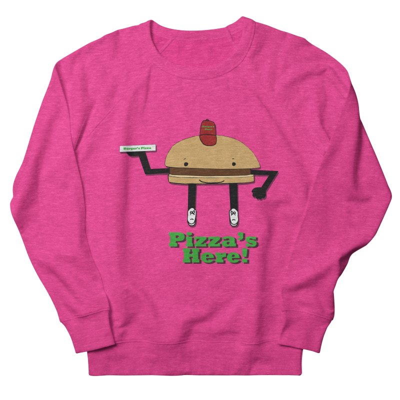 Burger Pizza Men's Sweatshirt by cmschulz's Artist Shop