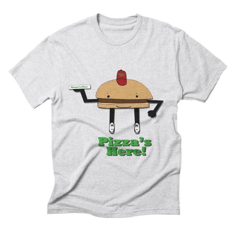 Burger Pizza Men's Triblend T-Shirt by cmschulz's Artist Shop