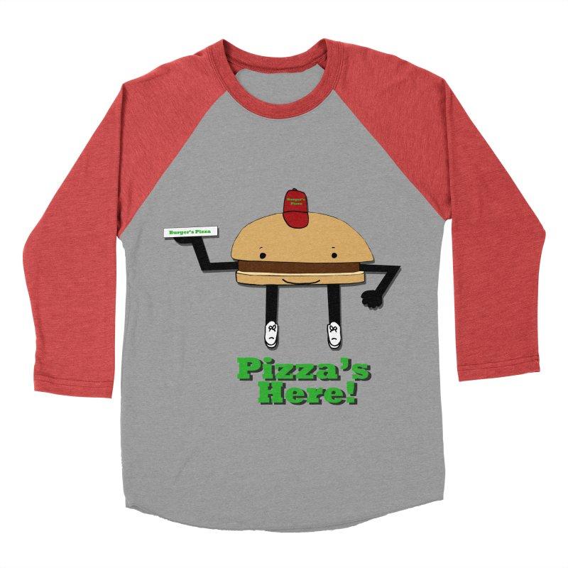 Burger Pizza Men's Baseball Triblend T-Shirt by cmschulz's Artist Shop