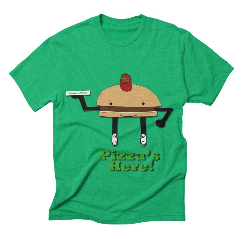 Burger Pizza Men's Triblend T-shirt by cmschulz's Artist Shop