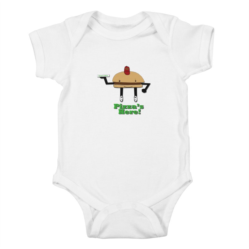 Burger Pizza Kids Baby Bodysuit by cmschulz's Artist Shop