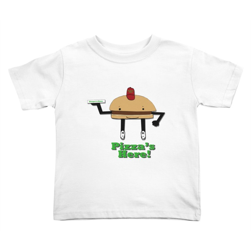 Burger Pizza Kids Toddler T-Shirt by cmschulz's Artist Shop