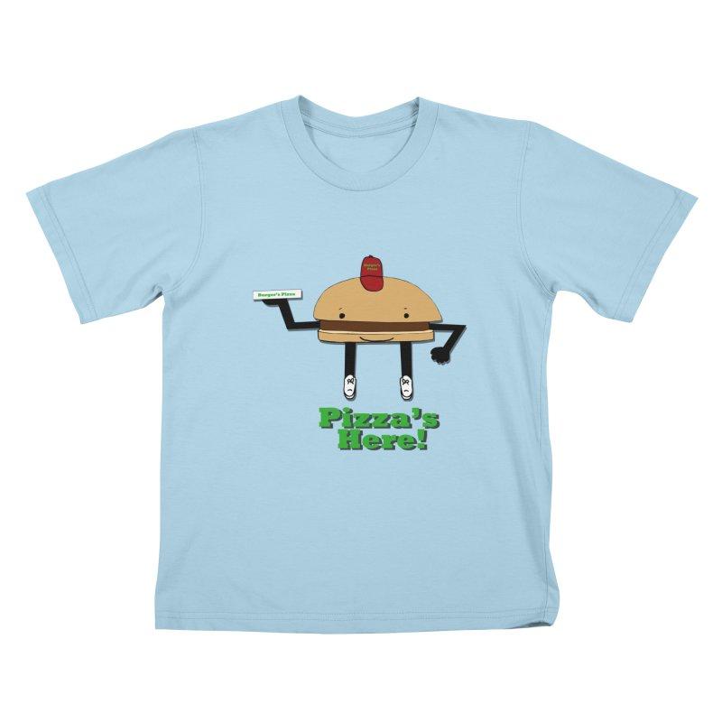 Burger Pizza Kids T-Shirt by cmschulz's Artist Shop
