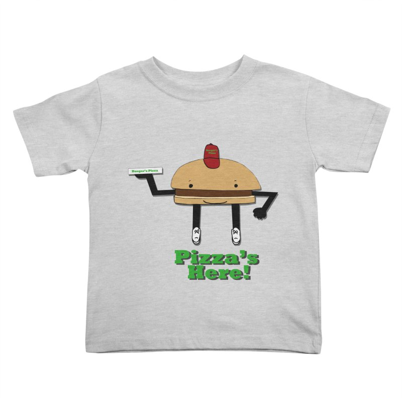 Burger Pizza Kids Toddler T-Shirt by cmschulz's Artist Shop