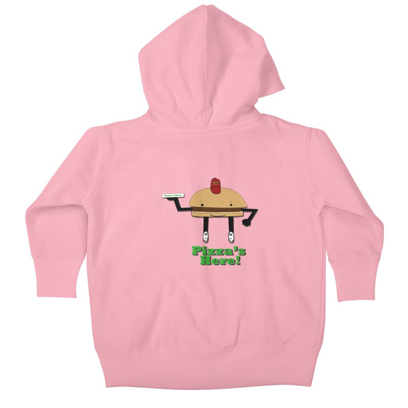 Burger Pizza Kids Baby Zip-Up Hoody by cmschulz's Artist Shop
