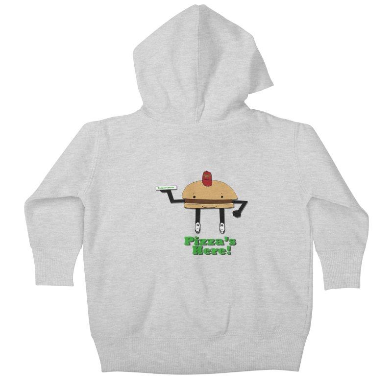 Burger Pizza Kids Baby Zip-Up Hoody by cmschulz's Artist Shop