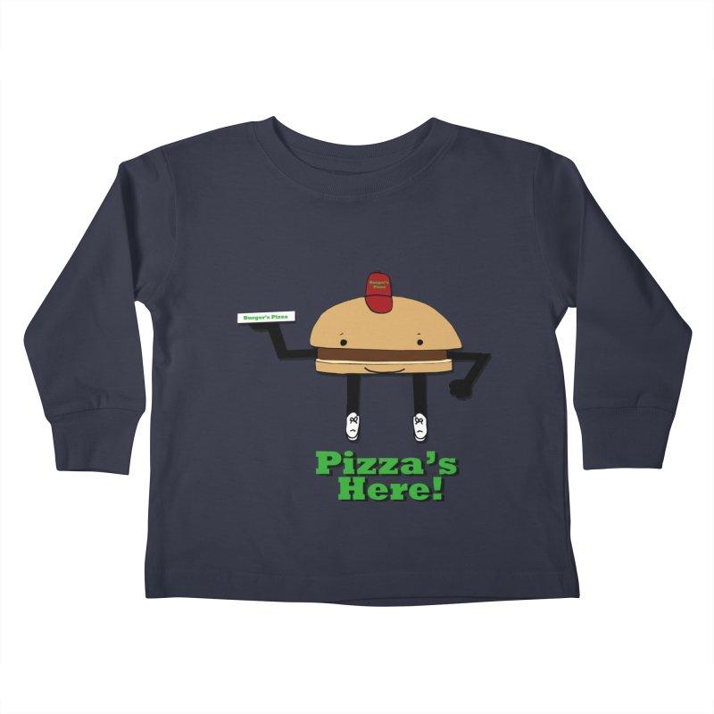 Burger Pizza Kids Toddler Longsleeve T-Shirt by cmschulz's Artist Shop