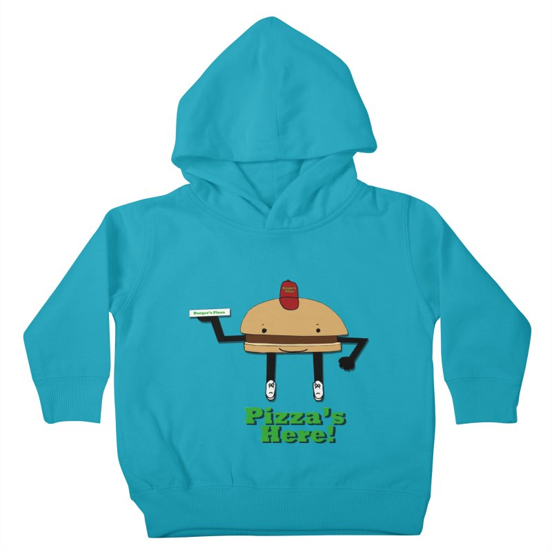 Burger Pizza Kids Toddler Pullover Hoody by cmschulz's Artist Shop
