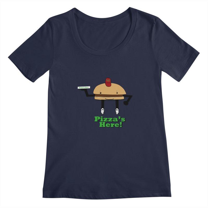 Burger Pizza Women's Scoopneck by cmschulz's Artist Shop