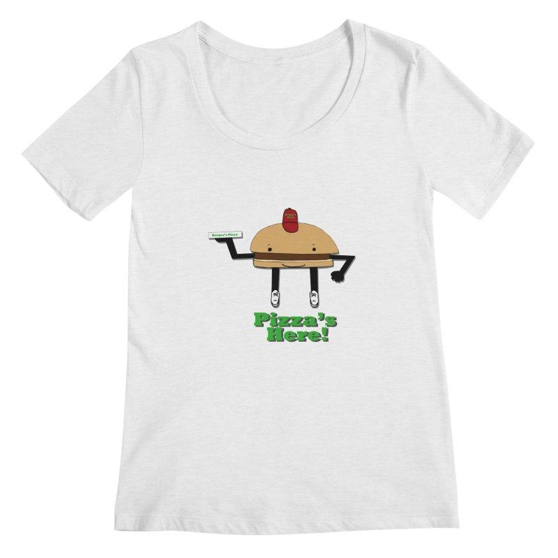 Burger Pizza Women's Scoop Neck by cmschulz's Artist Shop