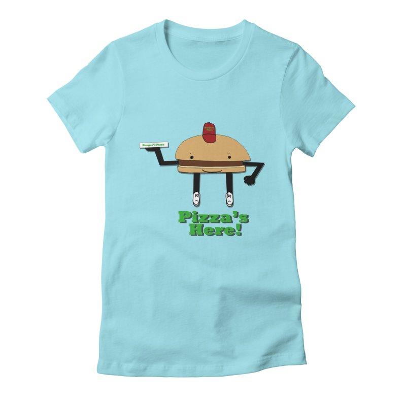 Burger Pizza Women's Fitted T-Shirt by cmschulz's Artist Shop
