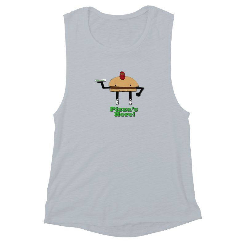 Burger Pizza Women's Tank by cmschulz's Artist Shop