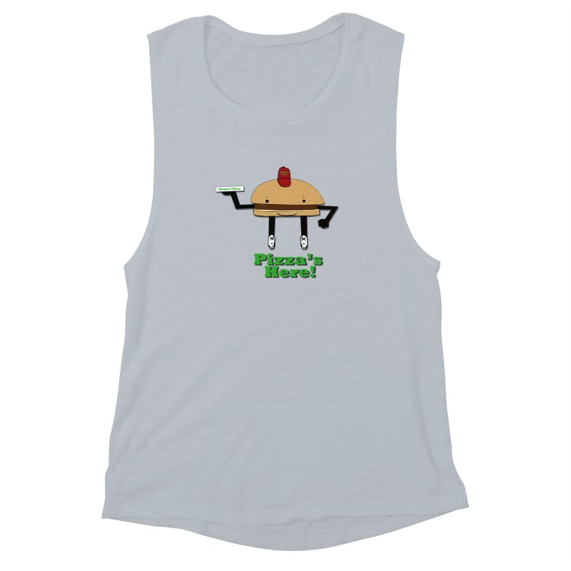 Burger Pizza Women's Muscle Tank by cmschulz's Artist Shop