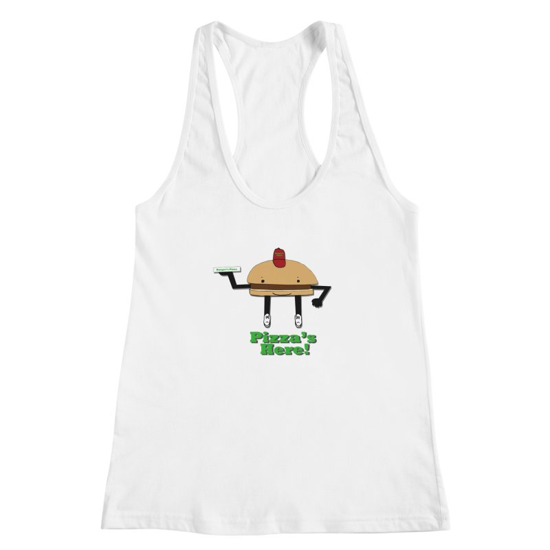 Burger Pizza Women's Racerback Tank by cmschulz's Artist Shop