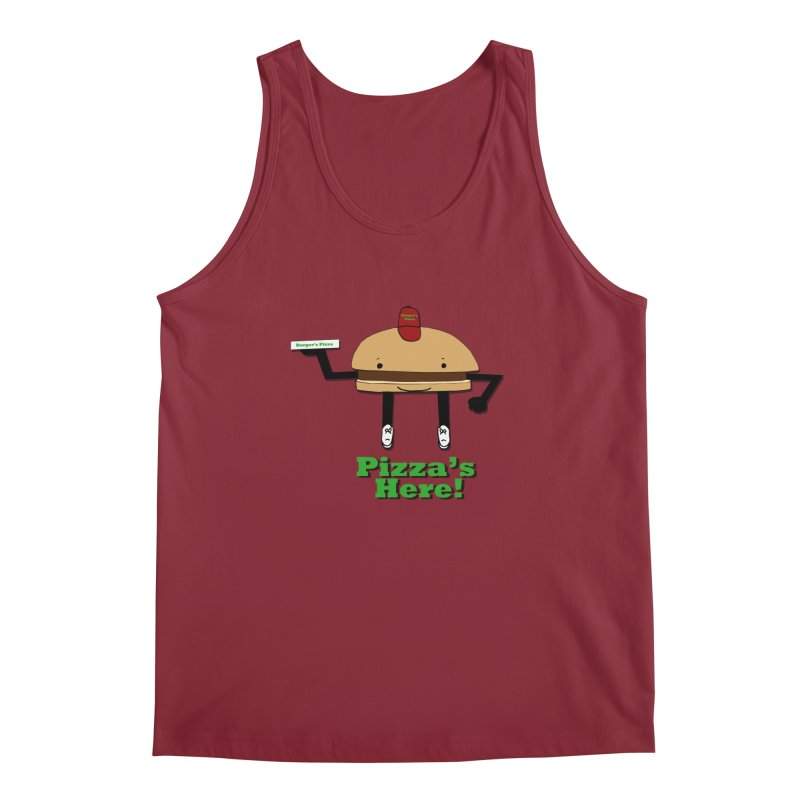 Burger Pizza Men's Tank by cmschulz's Artist Shop