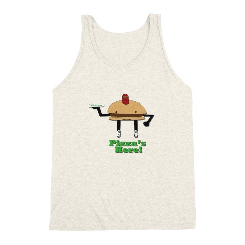 Burger Pizza Men's Triblend Tank by cmschulz's Artist Shop