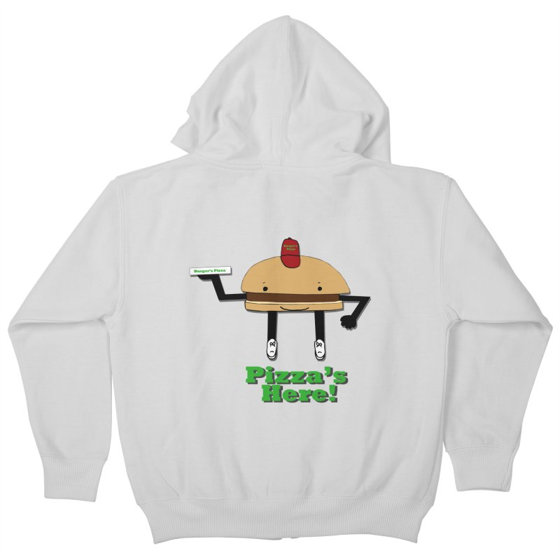 Burger Pizza Kids Zip-Up Hoody by cmschulz's Artist Shop