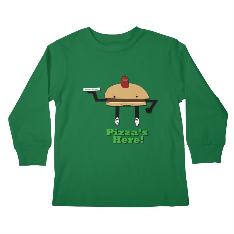 Burger Pizza Kids Longsleeve T-Shirt by cmschulz's Artist Shop