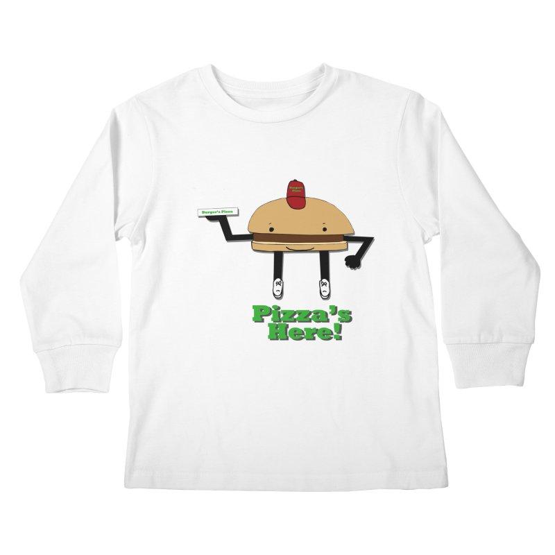 Burger Pizza Kids Longsleeve T-Shirt by cmschulz's Artist Shop