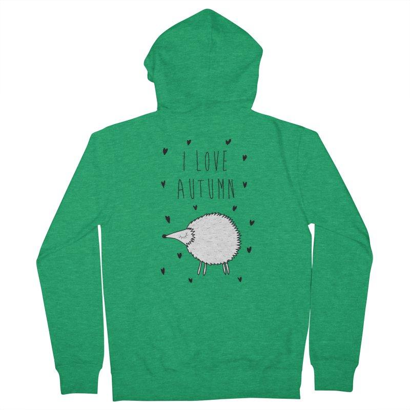 I love autumn Men's Zip-Up Hoody by coclodesign's Artist Shop