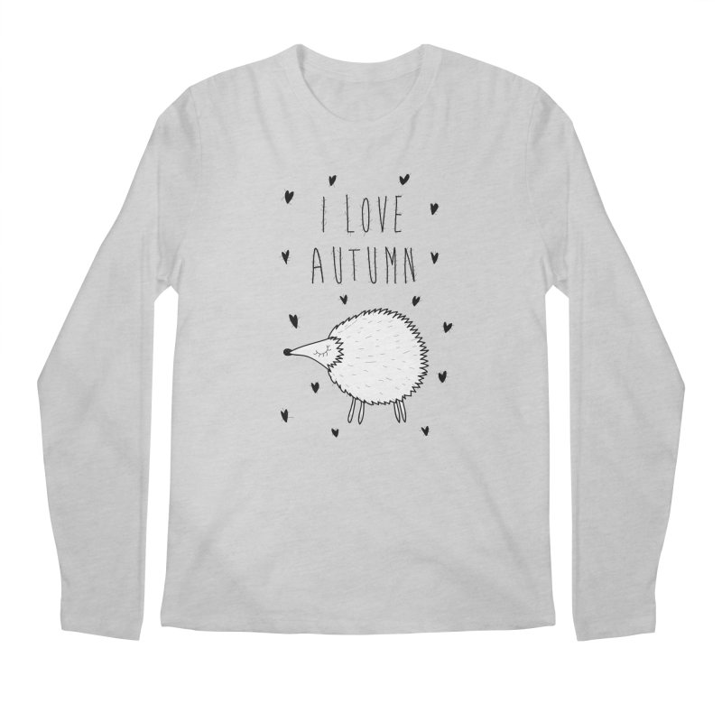 I love autumn Men's Regular Longsleeve T-Shirt by coclodesign's Artist Shop