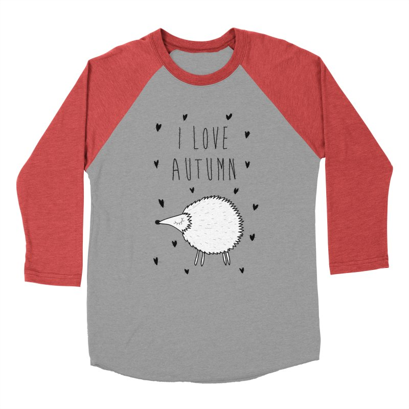 I love autumn Men's Baseball Triblend Longsleeve T-Shirt by coclodesign's Artist Shop