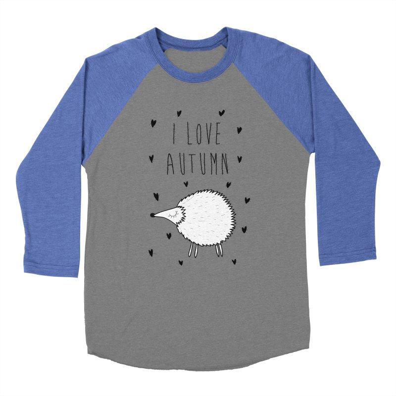 I love autumn Men's Baseball Triblend T-Shirt by coclodesign's Artist Shop