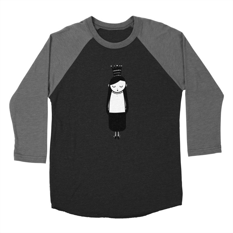 Little girl Women's Baseball Triblend T-Shirt by coclodesign's Artist Shop