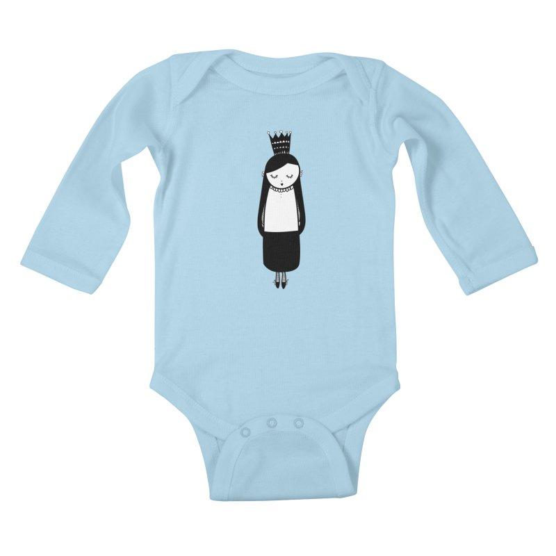 Little girl Kids Baby Longsleeve Bodysuit by coclodesign's Artist Shop