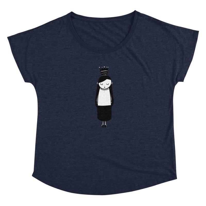 Little girl Women's Scoop Neck by coclodesign's Artist Shop