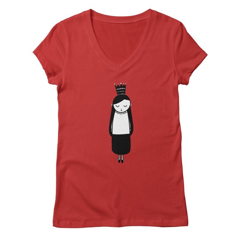 Little girl Women's Regular V-Neck by coclodesign's Artist Shop