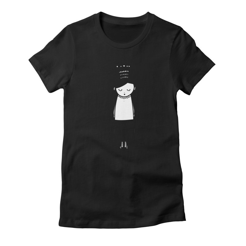 Little girl Women's Fitted T-Shirt by coclodesign's Artist Shop