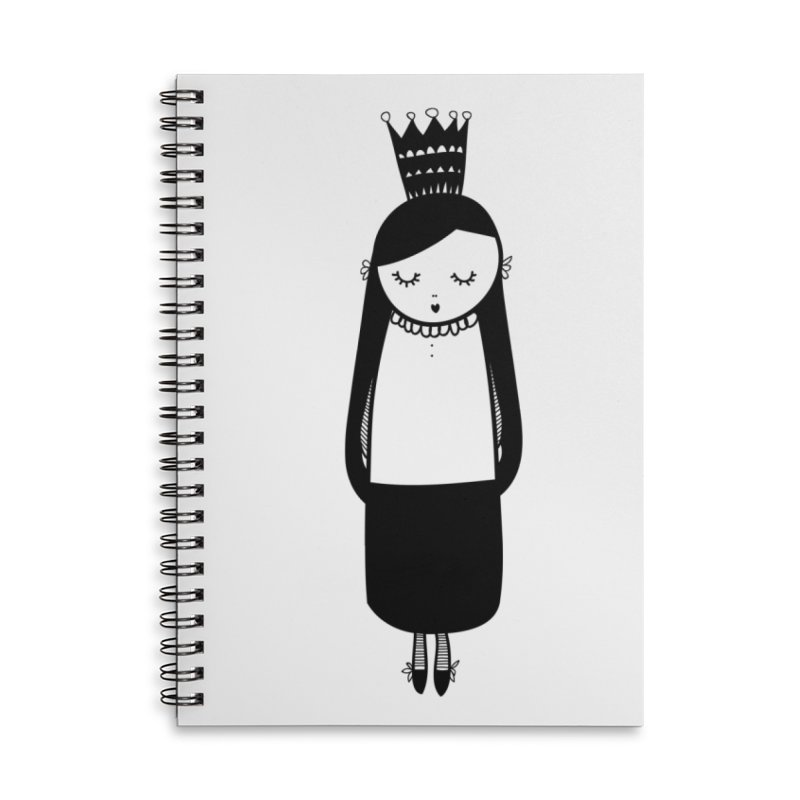 Little girl Accessories Lined Spiral Notebook by coclodesign's Artist Shop