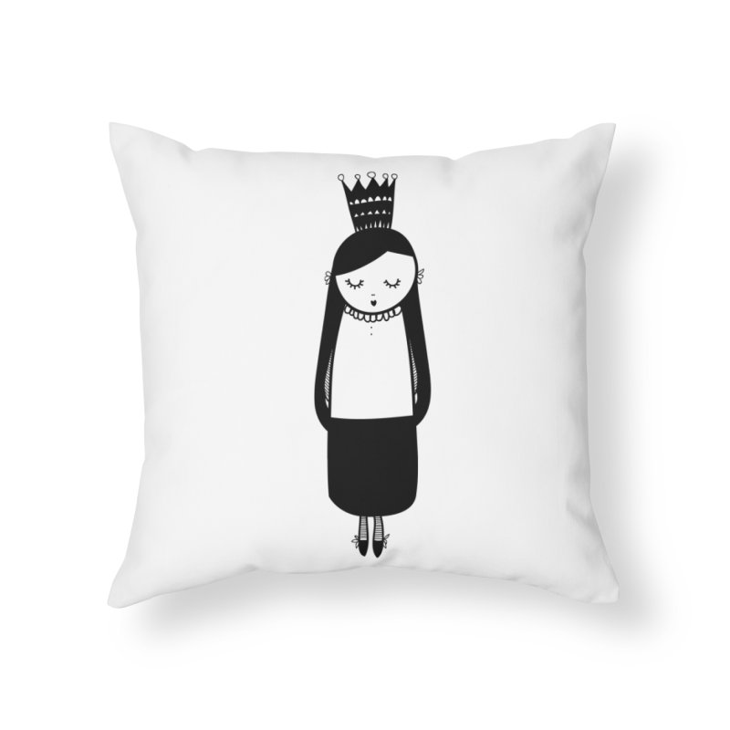 Little girl Home Throw Pillow by coclodesign's Artist Shop