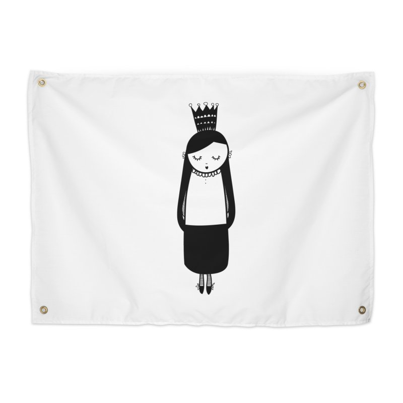 Little girl Home Tapestry by coclodesign's Artist Shop