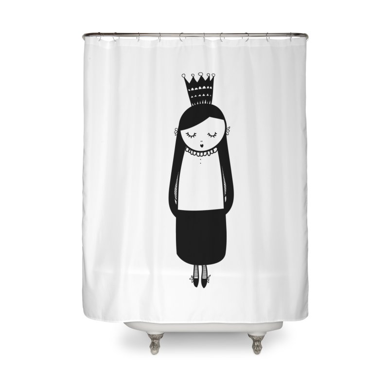 Little girl Home Shower Curtain by coclodesign's Artist Shop