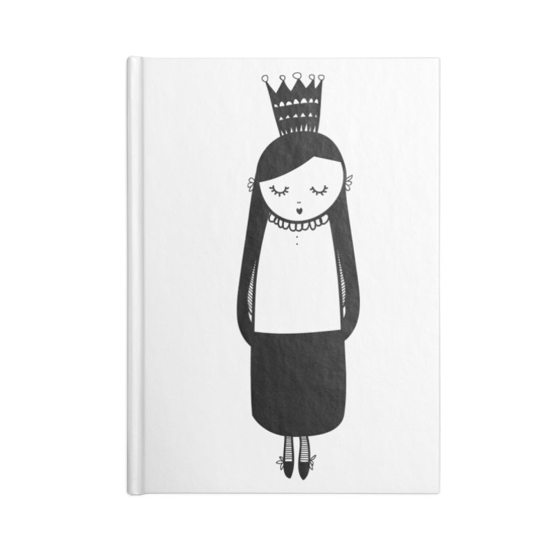 Little girl Accessories Lined Journal Notebook by coclodesign's Artist Shop