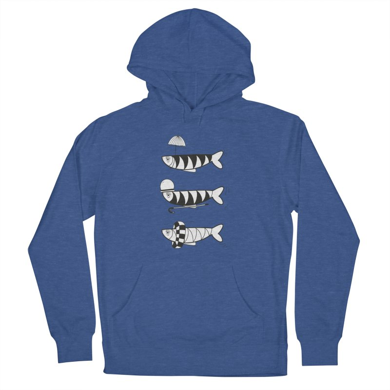 Fishes Women's French Terry Pullover Hoody by coclodesign's Artist Shop