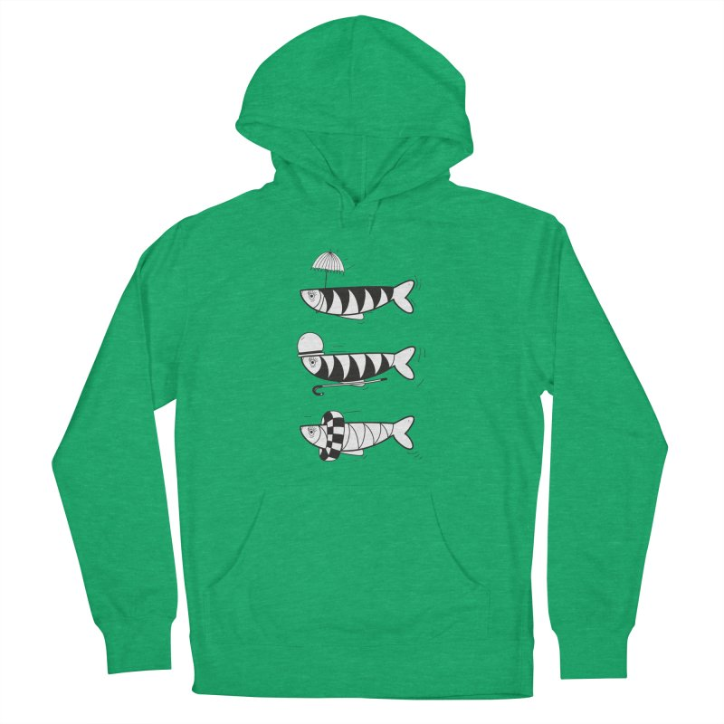 Fishes Men's French Terry Pullover Hoody by coclodesign's Artist Shop