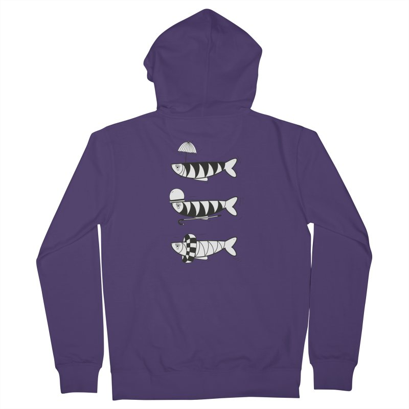 Fishes Women's French Terry Zip-Up Hoody by coclodesign's Artist Shop