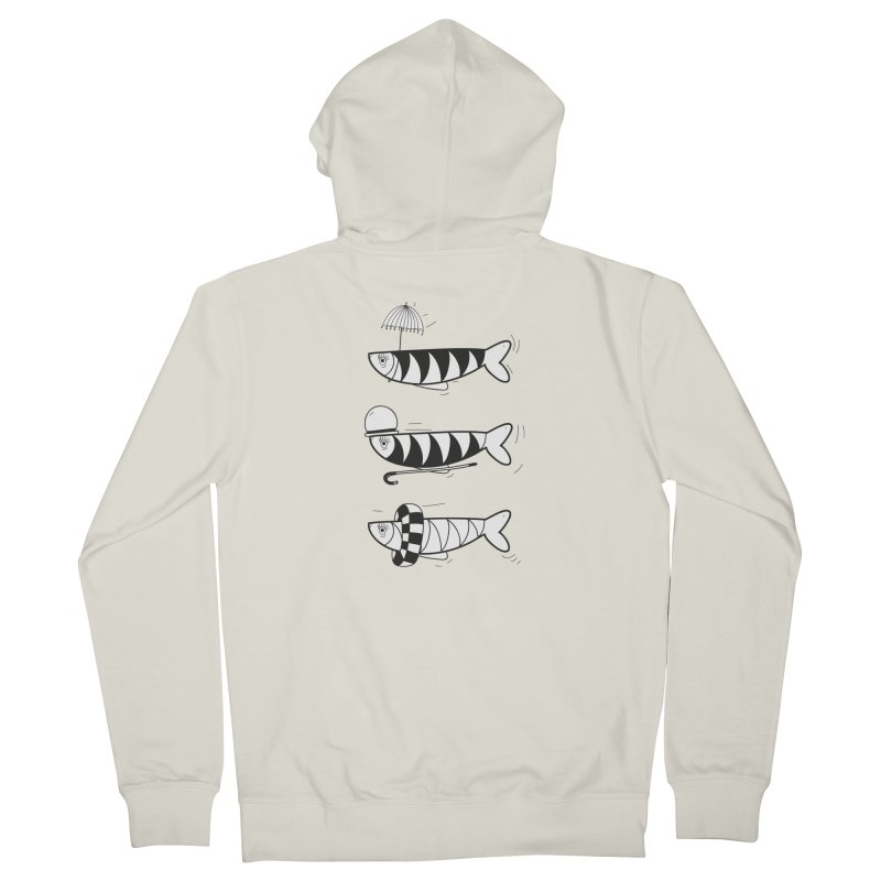 Fishes Men's French Terry Zip-Up Hoody by coclodesign's Artist Shop