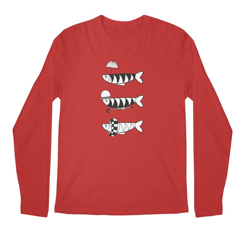 Fishes Men's Longsleeve T-Shirt by coclodesign's Artist Shop
